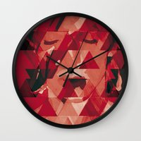 bowie Wall Clocks featuring Bowie by Aivé Trujillo