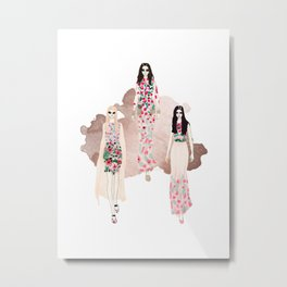 Fashionary - Rose Gold Metal Print