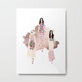 Fashionary - Rose Gold Metal Print
