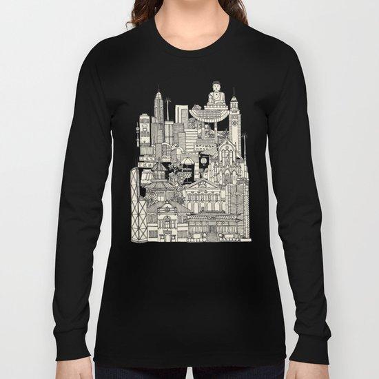Hong Kong toile de jouy Long Sleeve T-shirt