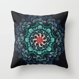 Abstract Floral Mandala Throw Pillow