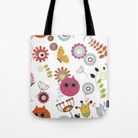 Owl in Pandora Tote Bag