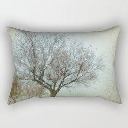 Rainy Winter Day Rectangular Pillow