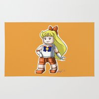 sailor venus Area & Throw Rugs featuring Legolized Sailor Venus by luvusagi