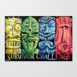 Survivor Challenge Tiki Poster Canvas Print