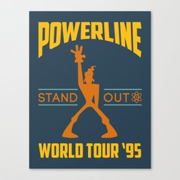 Powerline World Tour 95' Concert Tee Canvas Print