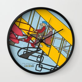Wilbur and Orville Wright, 1903 Wall Clock