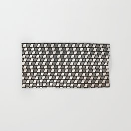 Irregular Chequers - Black Steel and Stelel - Industrial Chess Board Pattern Hand & Bath Towel