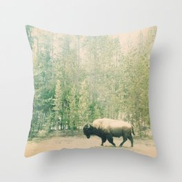 bison I Throw Pillow