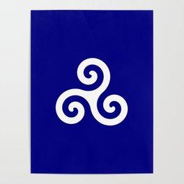 Triskele 13 -triskelion,triquètre,triscèle,spiral,celtic,Trisquelión,rotational Poster