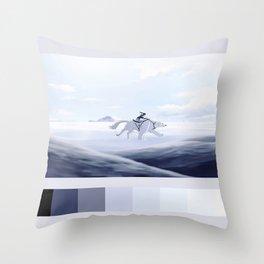 korra and naga palette Throw Pillow