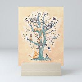 The tree of cat life Mini Art Print