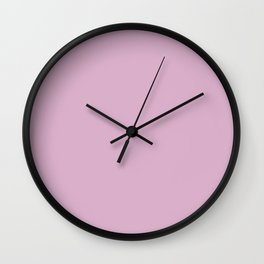 Spring Lavender, Solid Color Collection Wall Clock