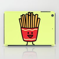 french fries iPad Cases featuring Happy Fries by Berenice Limon