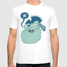 Pirate Material White MEDIUM Mens Fitted Tee