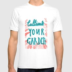 Cultivate your garden White Mens Fitted Tee MEDIUM