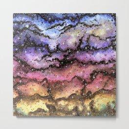 Watercolor Universe - Sunset Metal Print