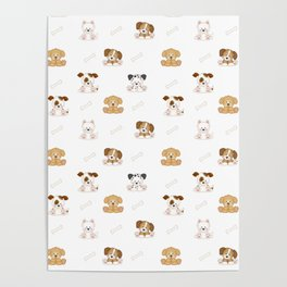 Puppy Dog Baby Nursery Wall Art Poster