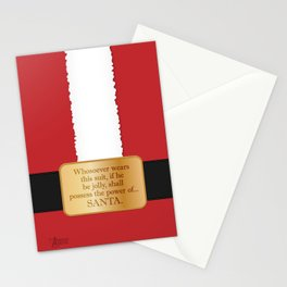 The power of Santa Stationery Cards
