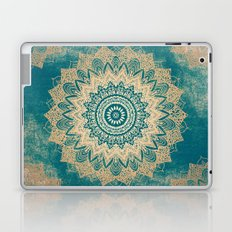 GOLD BOHOCHIC MANDALA IN GREENS Laptop & iPad Skin