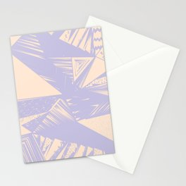Modern lilac ivory violet geometrical shapes patterns Stationery Cards