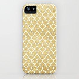 Mermaid Tail Pattern     Gold Glitter iPhone Case