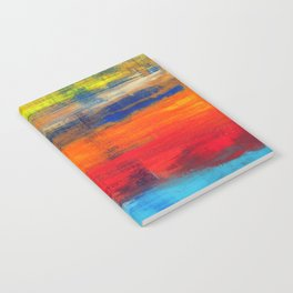 Horizon Blue Orange Red Abstract Art Notebook