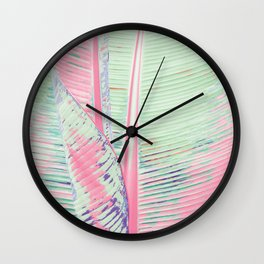 Flamingo and banana Wall Clock