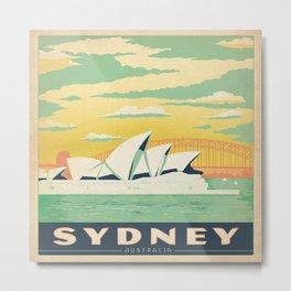 Vintage poster - Sydney Metal Print