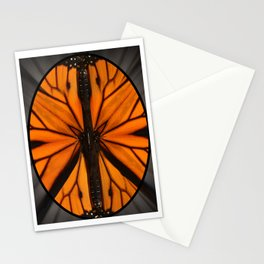 Monarch Butterfly wing Peace Symbol. The symbol began as the British symbol for nuclear disarmament. Stationery Cards