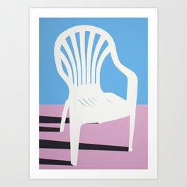White Plastic Chair Art Print