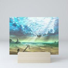 below sky level Mini Art Print