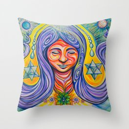 Inner Dimension of Infinite Ascension Throw Pillow