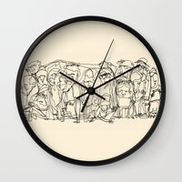 misfits Wall Clocks featuring Misfits by 5wingerone
