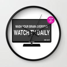 Watch TV daily Wall Clock
