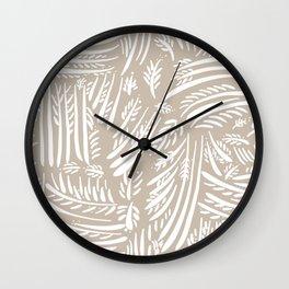 Organic Hand Drawn Foliage Wall Clock