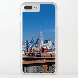 New York Skyline Clear iPhone Case