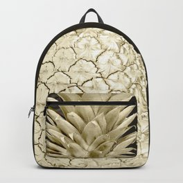 Golden Pineapple Marble Backpack
