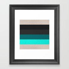 COLOR PATTERN II - TEXTURE Framed Art Print
