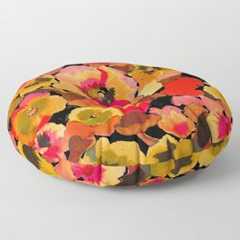 peach  floral Floor Pillow
