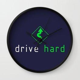 Drive Hard v5 HQvector Wall Clock