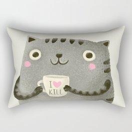 I♥kill (brown) Rectangular Pillow