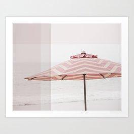 Beach Umbrella I Art Print