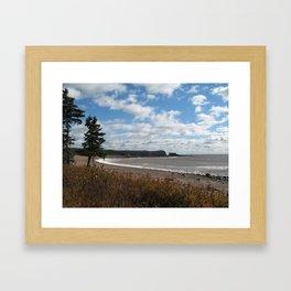 New Brunswick Shoreline Framed Art Print