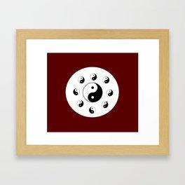 Yin and Yang 13 - Tao,Zen,Taoism,Dao,Harmony,religion,buddhism,buddhist,taijitu,taiji,taoist,china Framed Art Print
