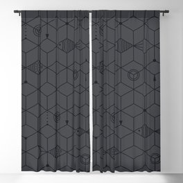 two fishes || dark water Blackout Curtain