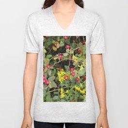 Flower and Berries Unisex V-Neck
