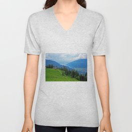 Above Interlaken Unisex V-Neck