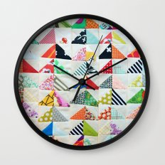 Flying Geese Quilt Pattern Wall Clock