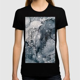 Icy Payne's Grey Abstract Bubble / Snow Painting T-shirt